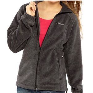 Columbia Full Zip Gray Fleece Slim Jacket-Small
